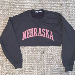 Missguided cropped crewneck